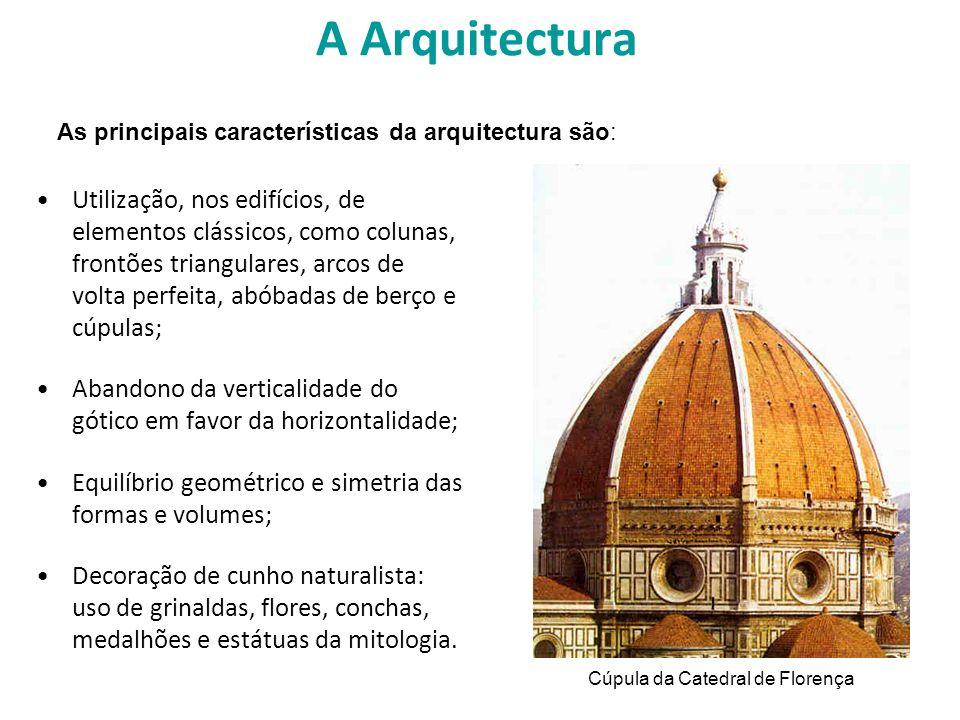 A Arquitectura As principais características da arquitectura são: