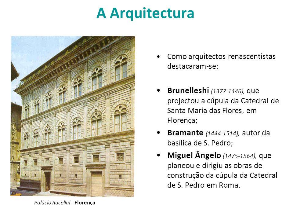 A Arquitectura Como arquitectos renascentistas destacaram-se: