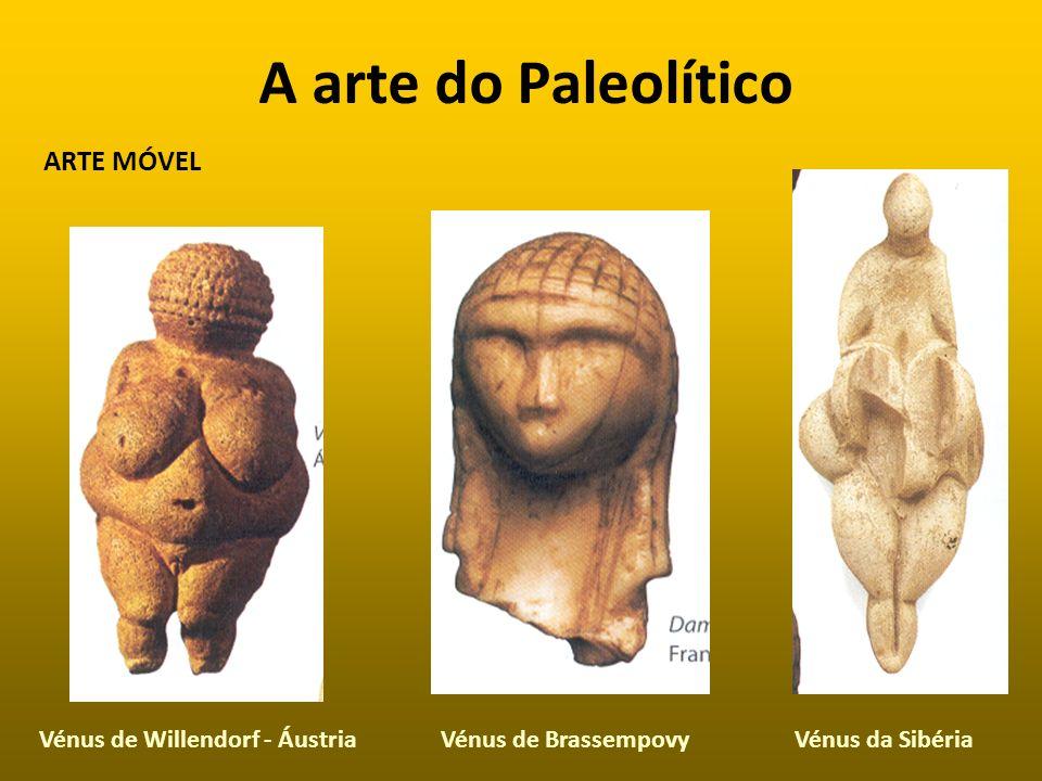 A arte do Paleolítico ARTE MÓVEL Vénus de Willendorf - Áustria