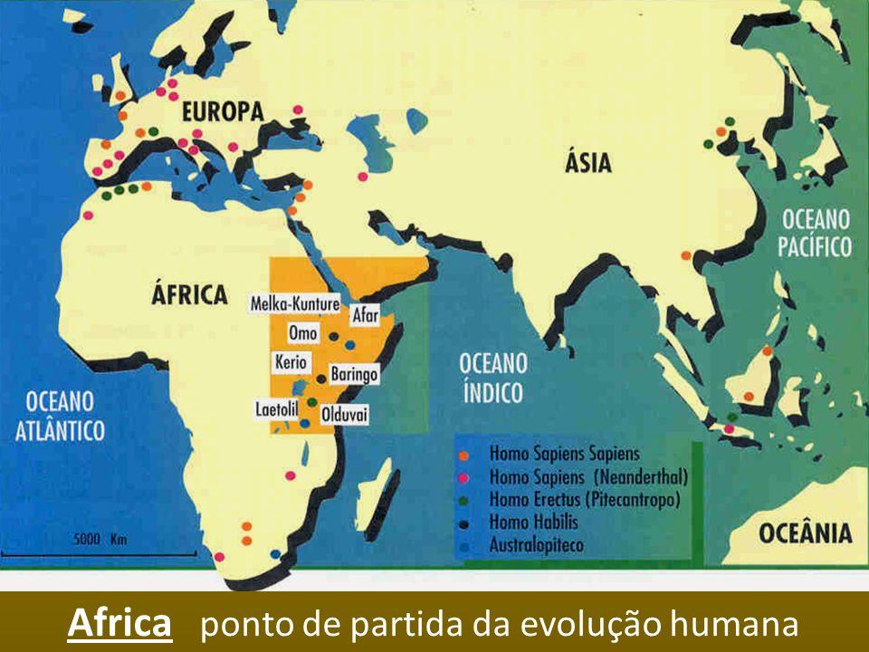 Africa ponto de partida da evolução humana