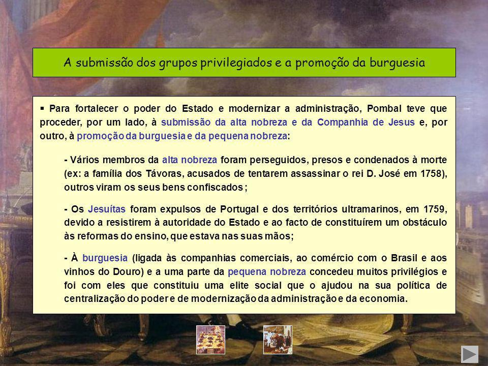 A submissão dos grupos privilegiados e a promoção da burguesia