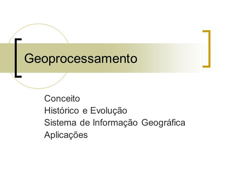 Geoprocessamento Conceito Histórico e Evolução