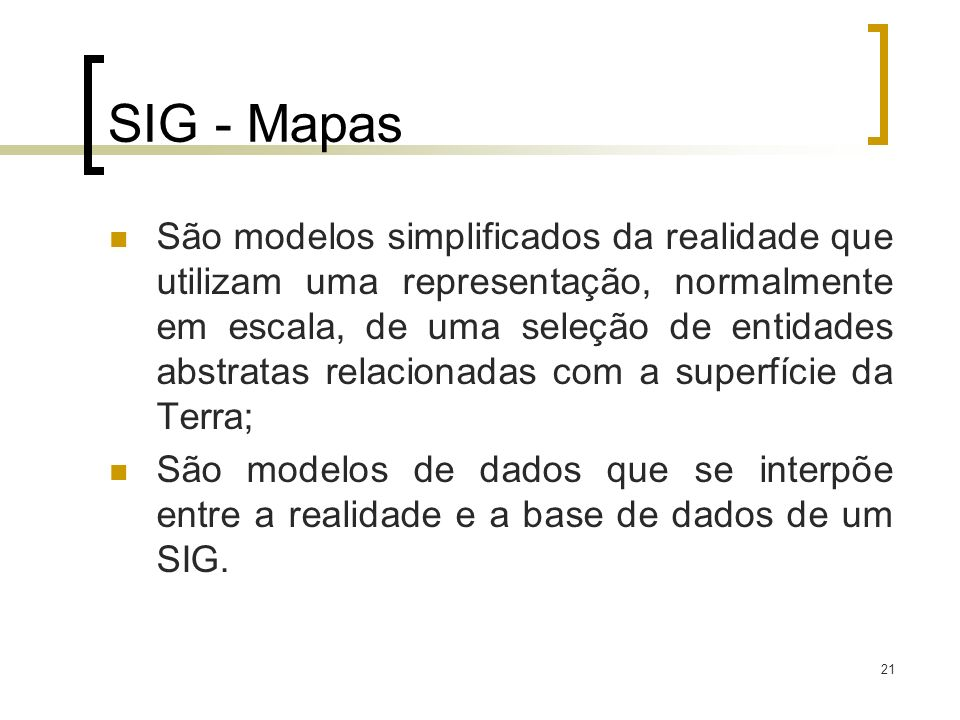 SIG - Mapas