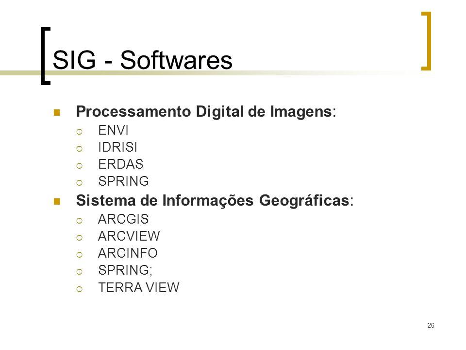 SIG - Softwares Processamento Digital de Imagens: