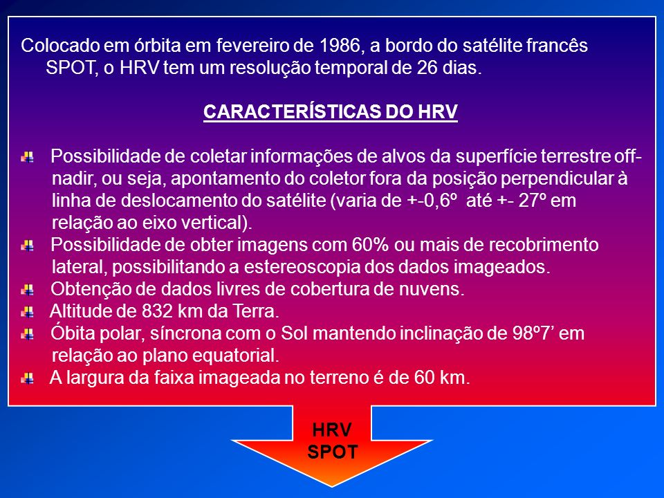 CARACTERÍSTICAS DO HRV