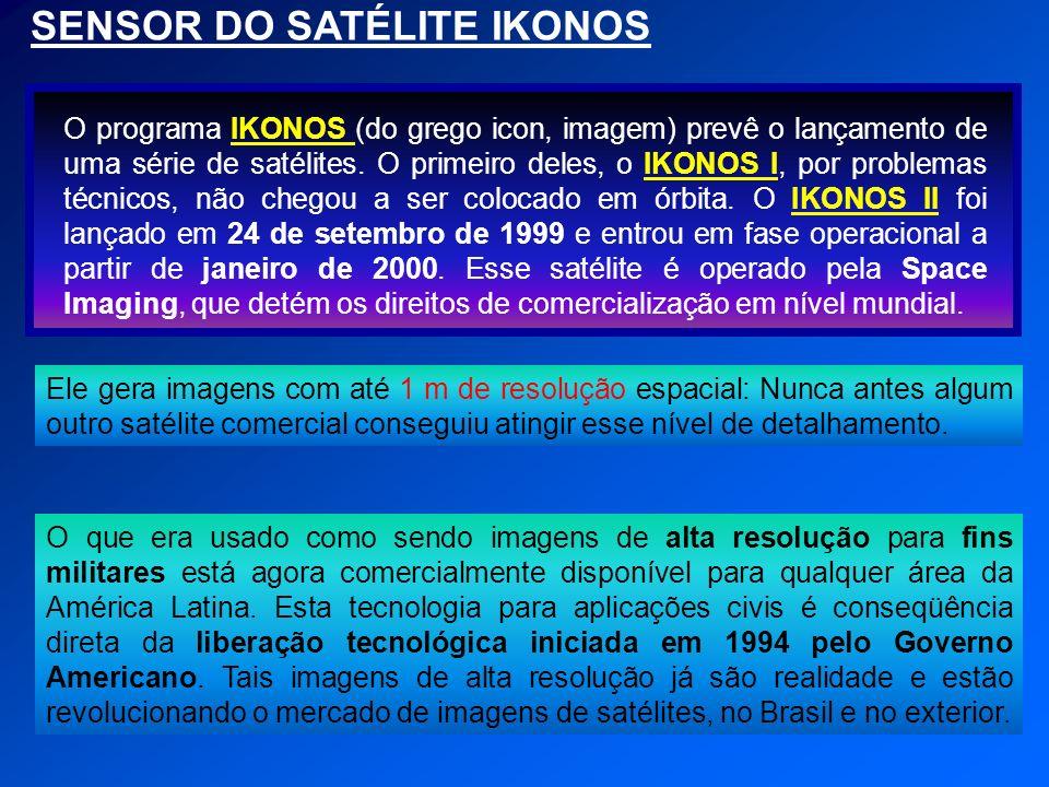 SENSOR DO SATÉLITE IKONOS