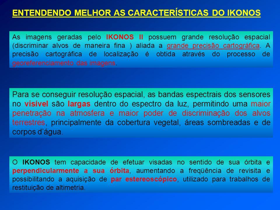 ENTENDENDO MELHOR AS CARACTERÍSTICAS DO IKONOS