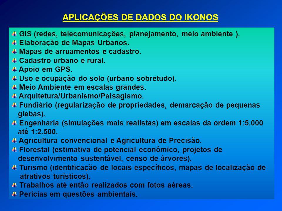 APLICAÇÕES DE DADOS DO IKONOS