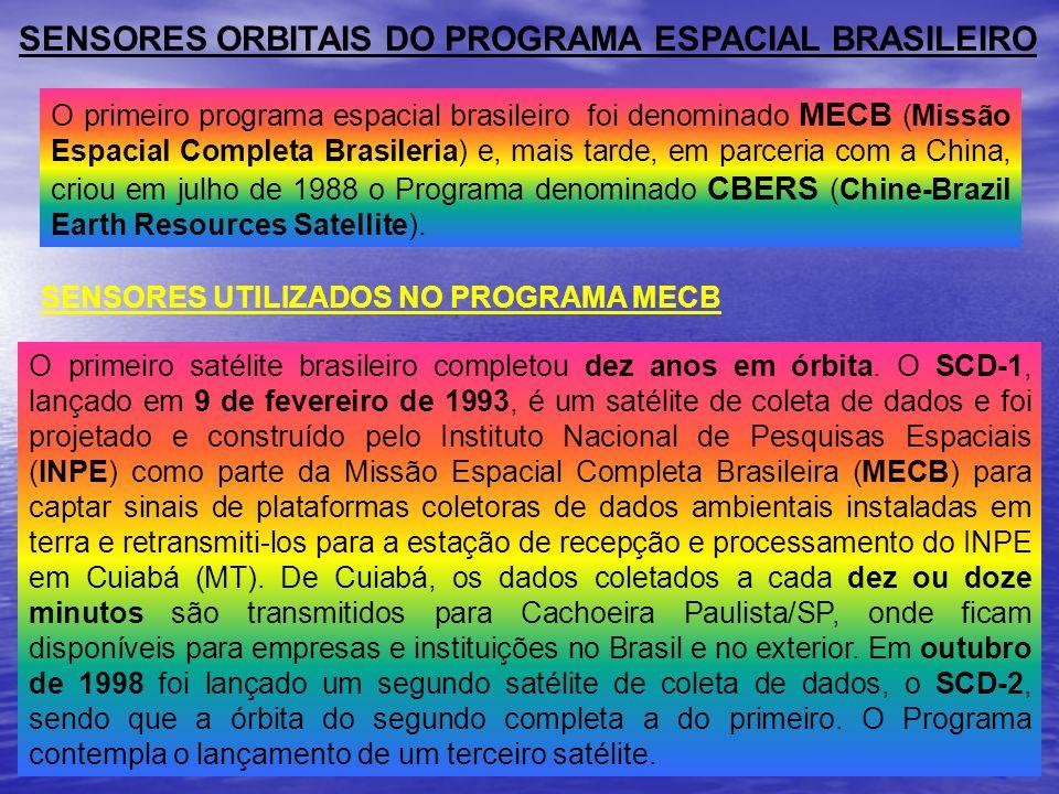 SENSORES ORBITAIS DO PROGRAMA ESPACIAL BRASILEIRO