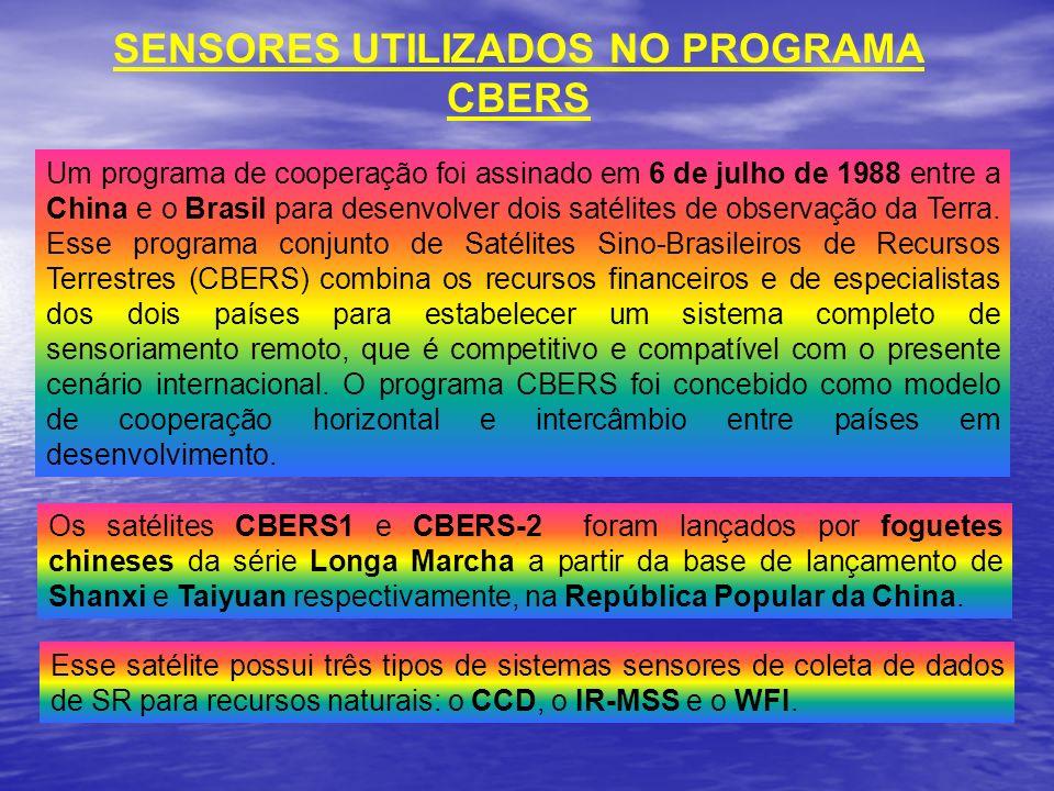 SENSORES UTILIZADOS NO PROGRAMA CBERS