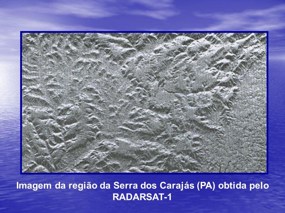 Imagem da região da Serra dos Carajás (PA) obtida pelo RADARSAT-1