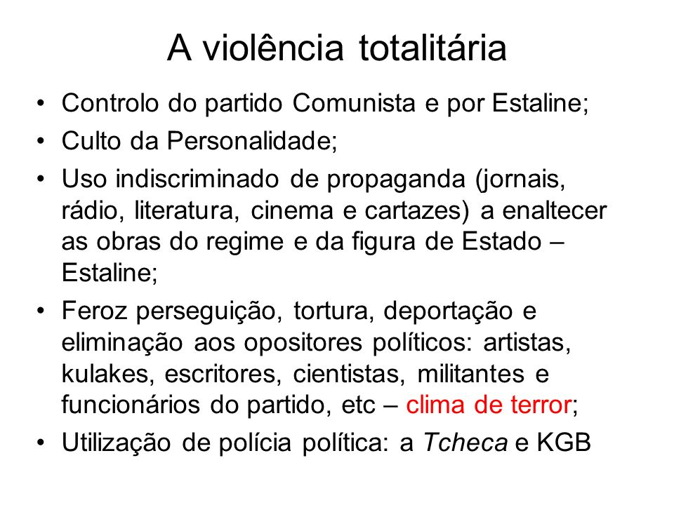 A violência totalitária