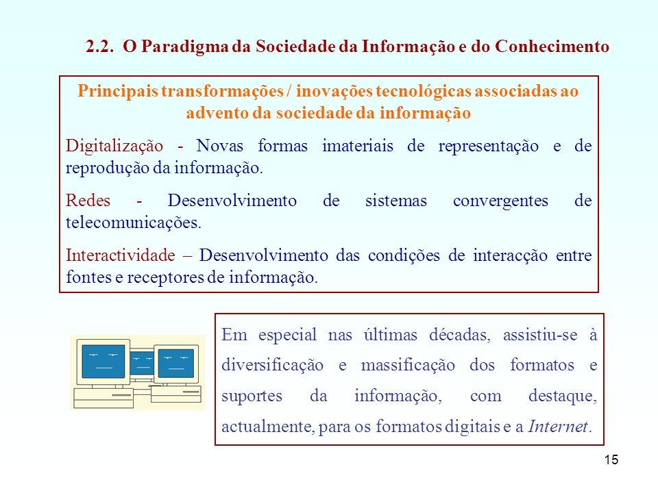 2.2. O Paradigma da Sociedade da Informação e do Conhecimento