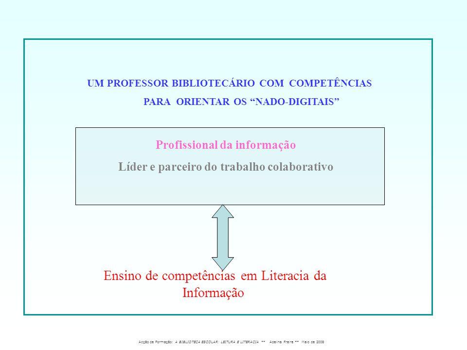 Profissional da informação Líder e parceiro do trabalho colaborativo