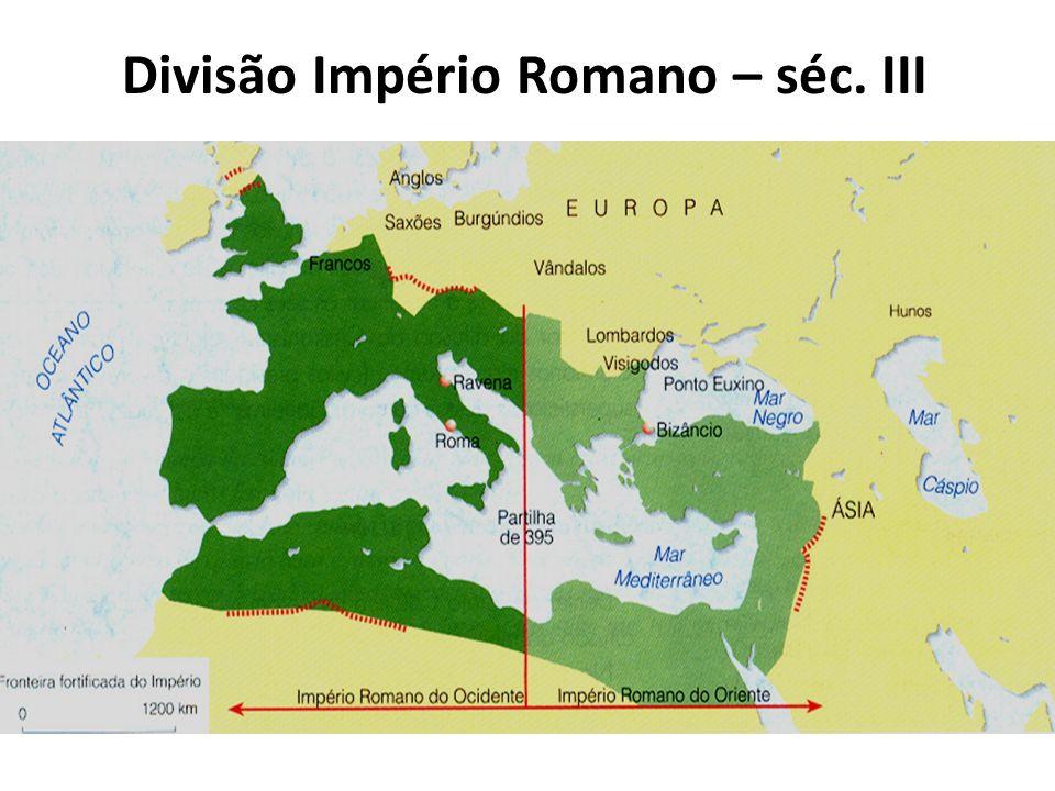 Divisão Império Romano – séc. III