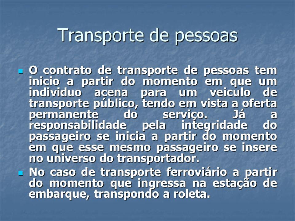 Transporte de pessoas