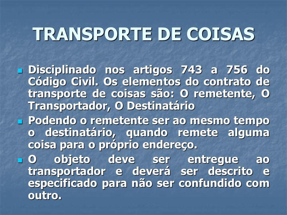 TRANSPORTE DE COISAS