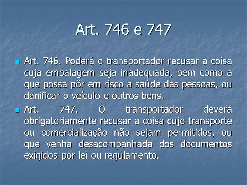 Art. 746 e 747