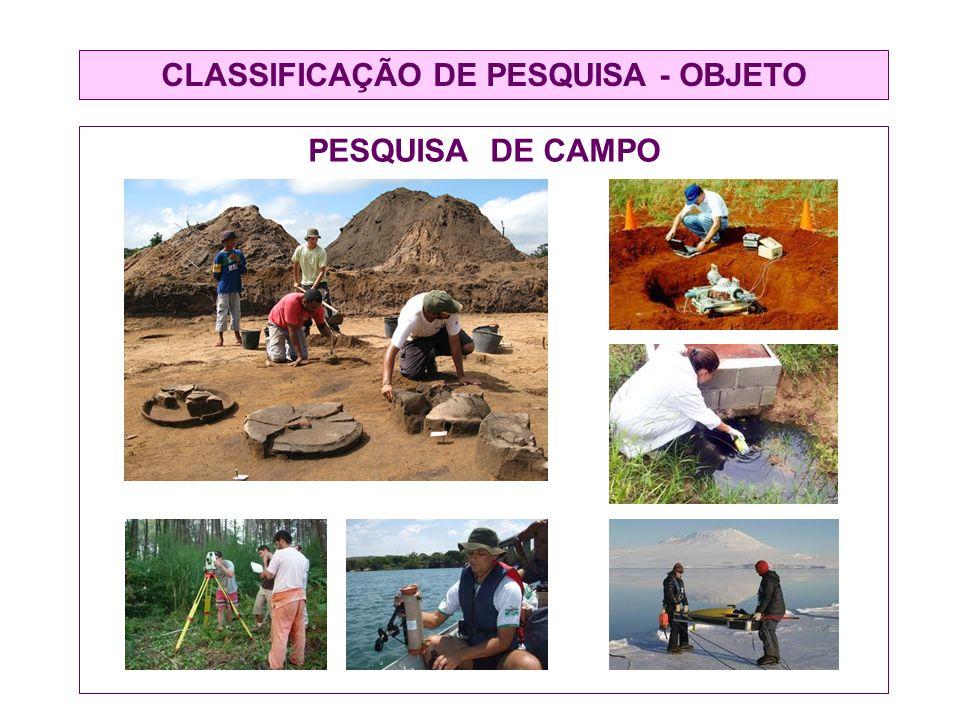 CLASSIFICAÇÃO DE PESQUISA - OBJETO