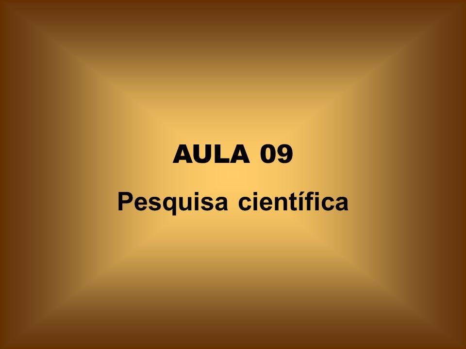 AULA 09 Pesquisa científica
