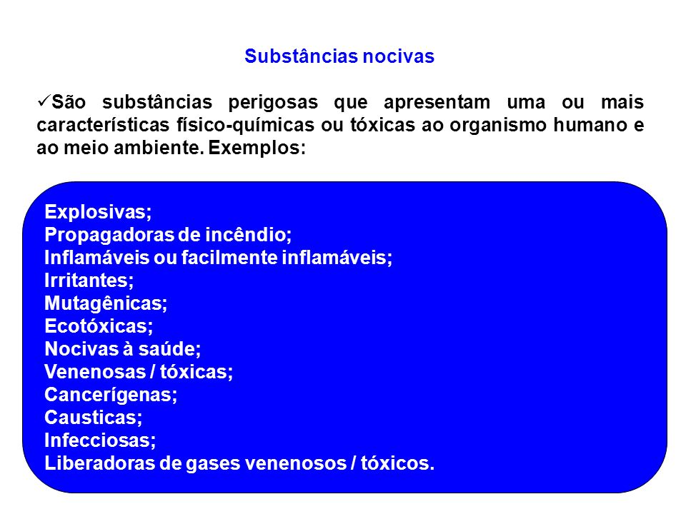 Substâncias nocivas
