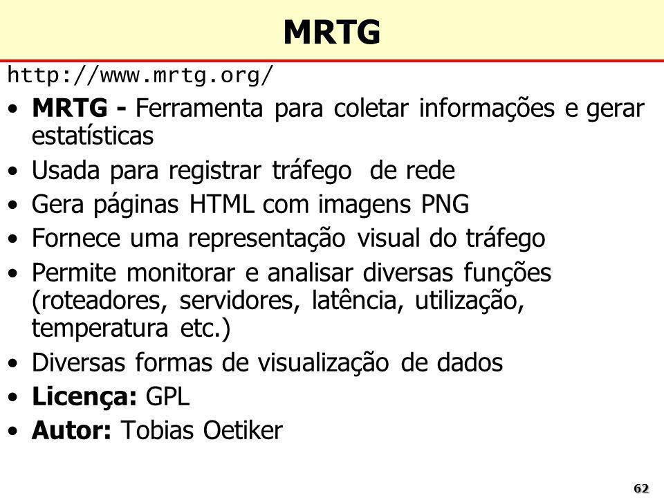 MRTG MRTG - Ferramenta para coletar informações e gerar estatísticas