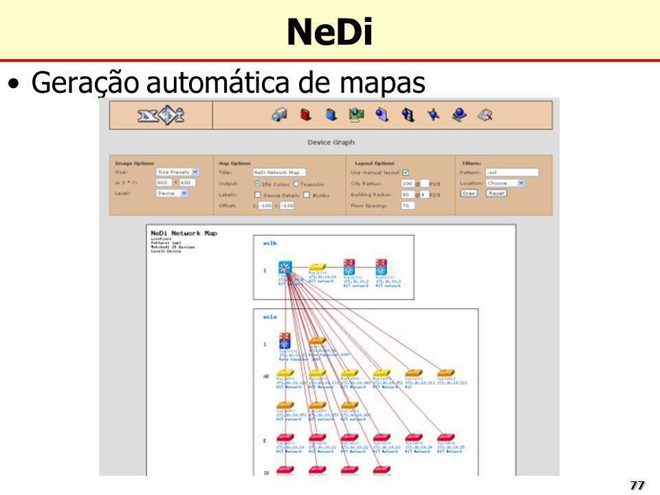 NeDi Geração automática de mapas