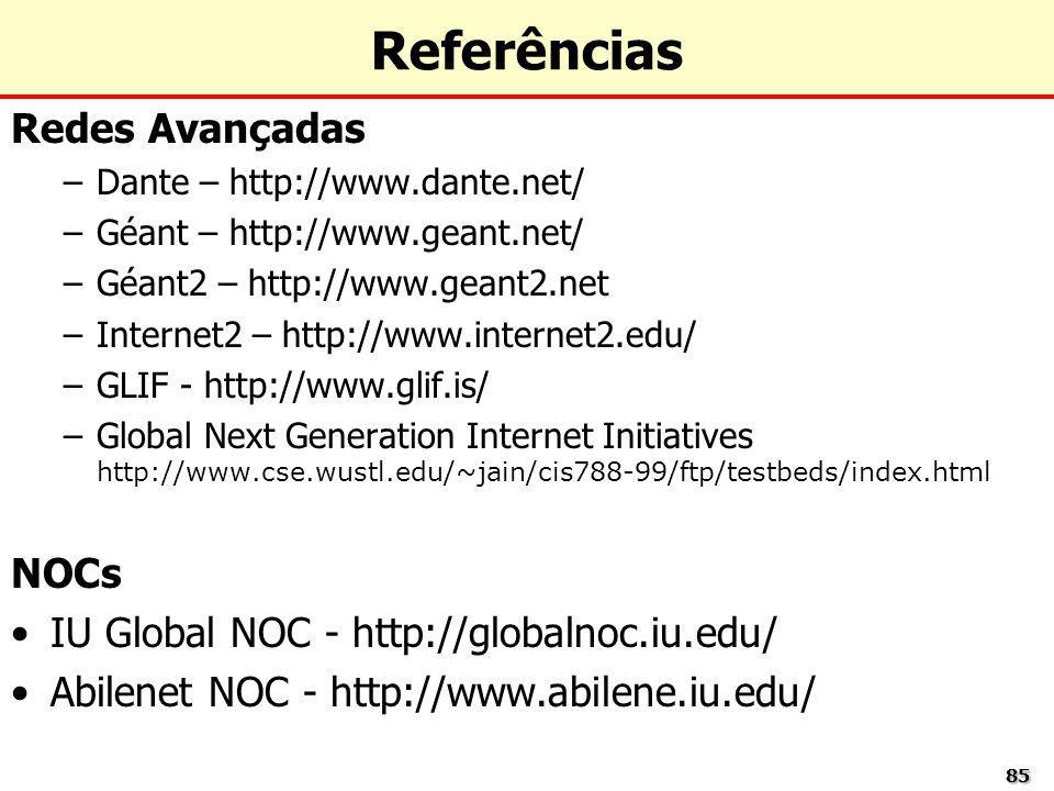 Referências Redes Avançadas NOCs