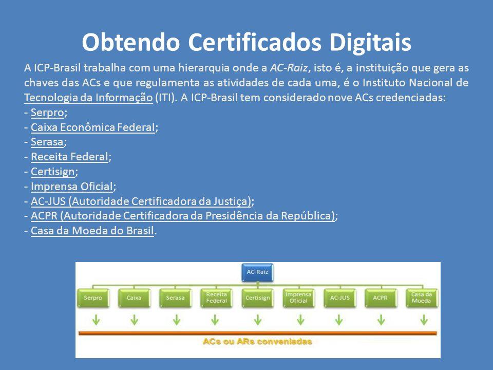 Obtendo Certificados Digitais