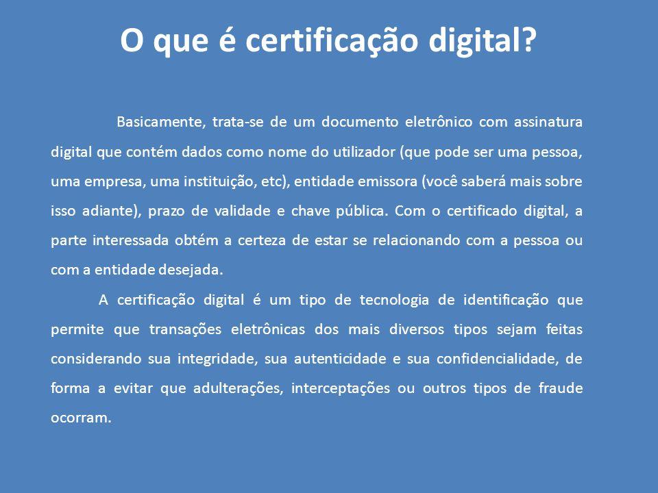 O que é certificação digital