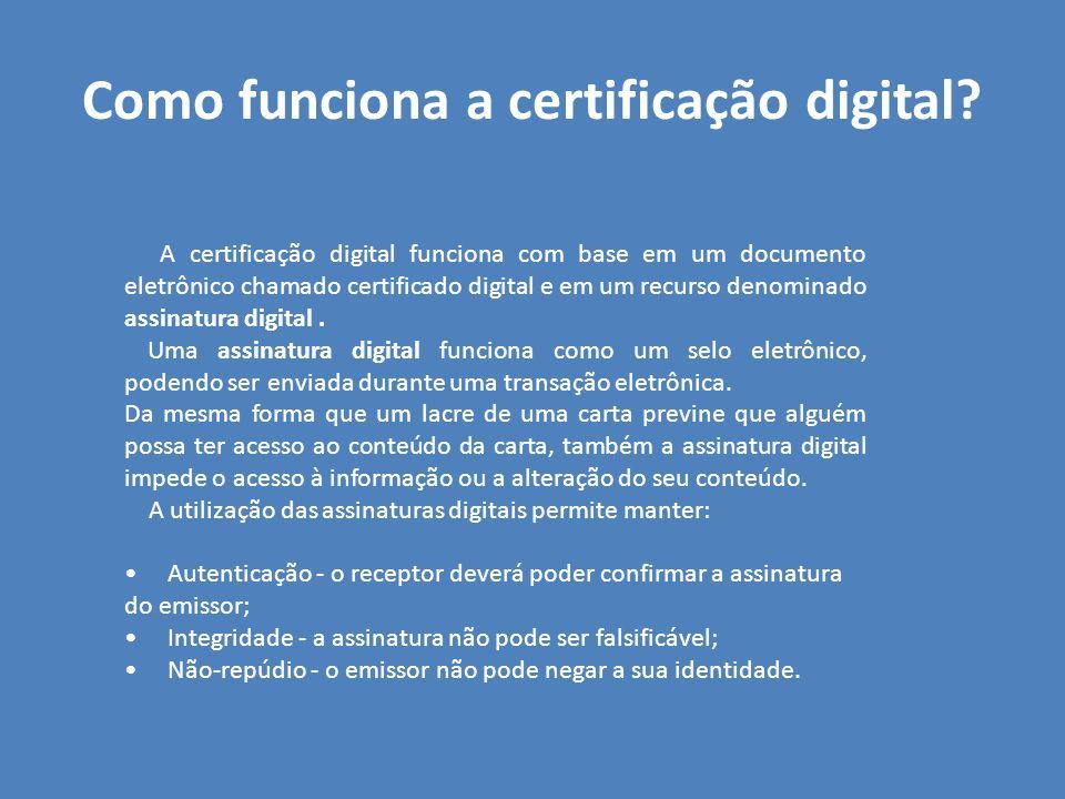 Como funciona a certificação digital