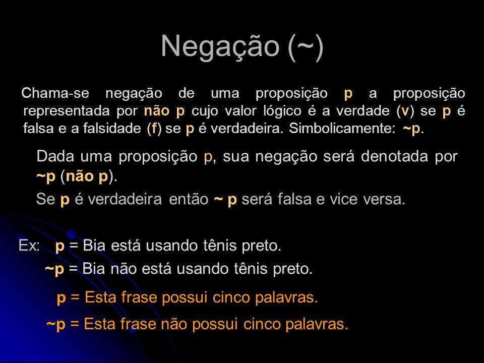 Negação (~)