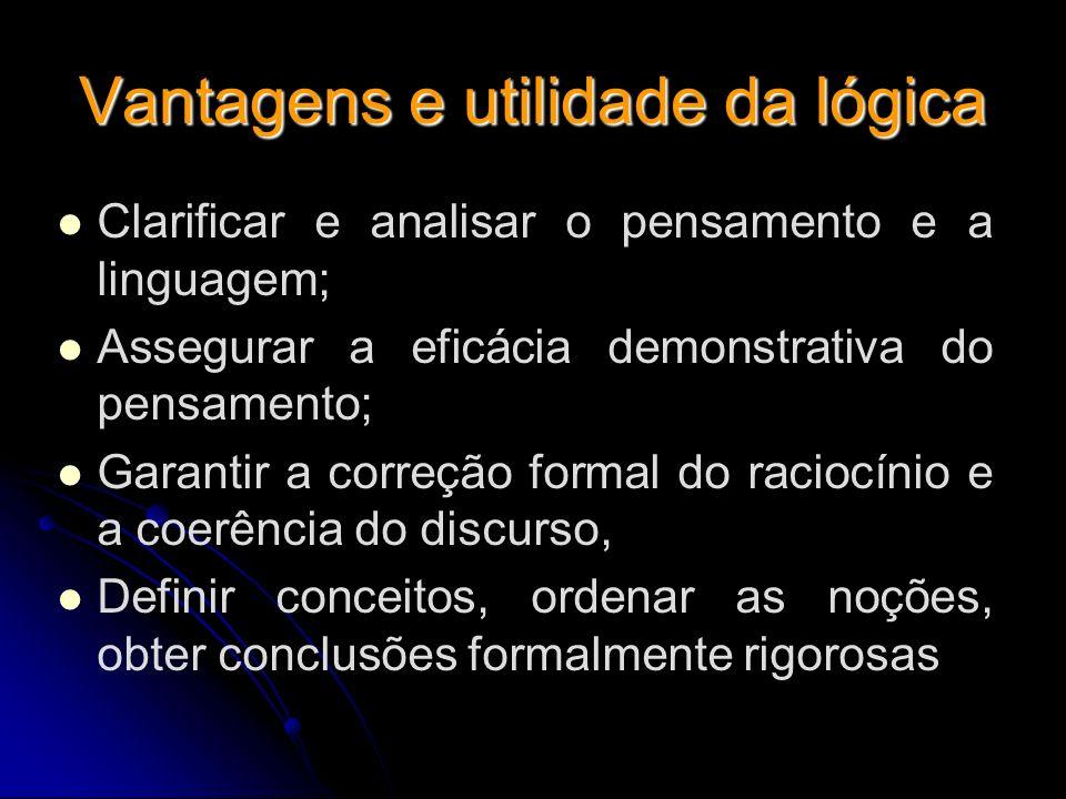 Vantagens e utilidade da lógica