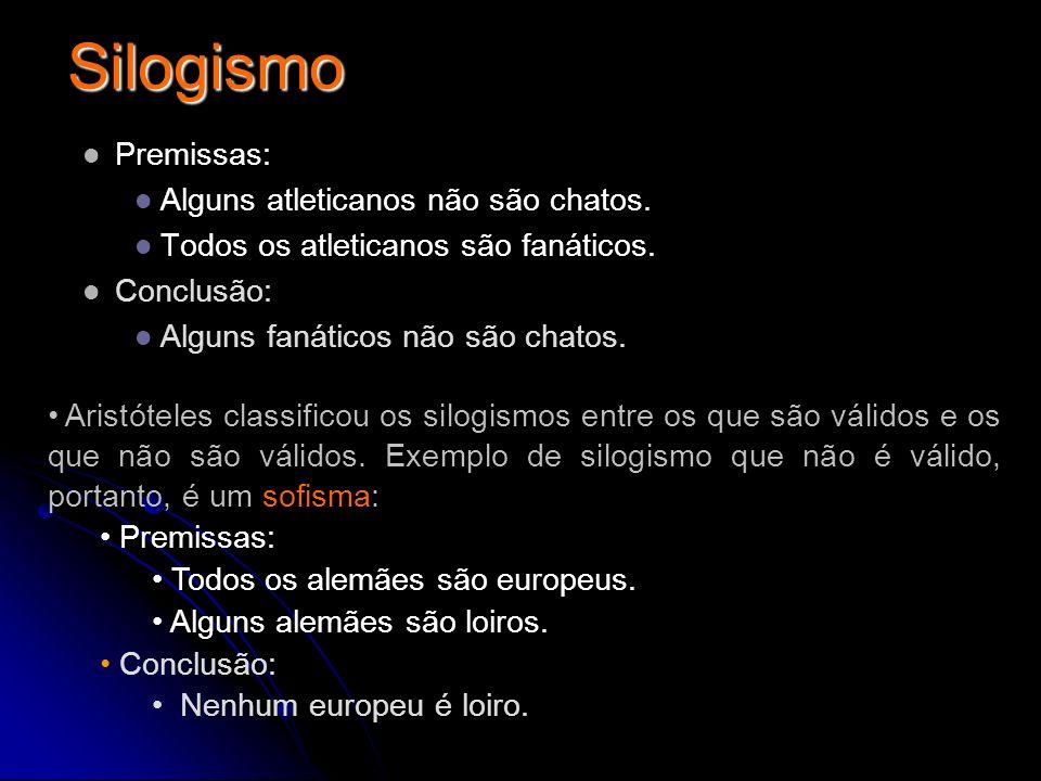 Silogismo Premissas: Alguns atleticanos não são chatos.