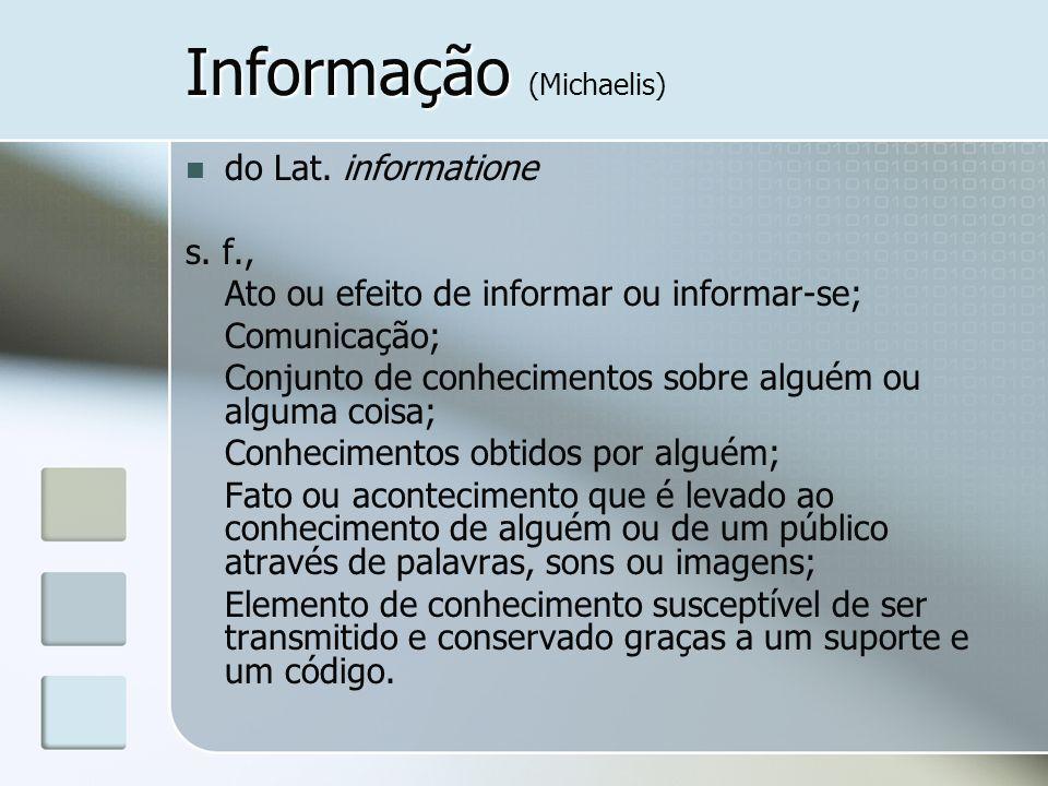 Informação (Michaelis)