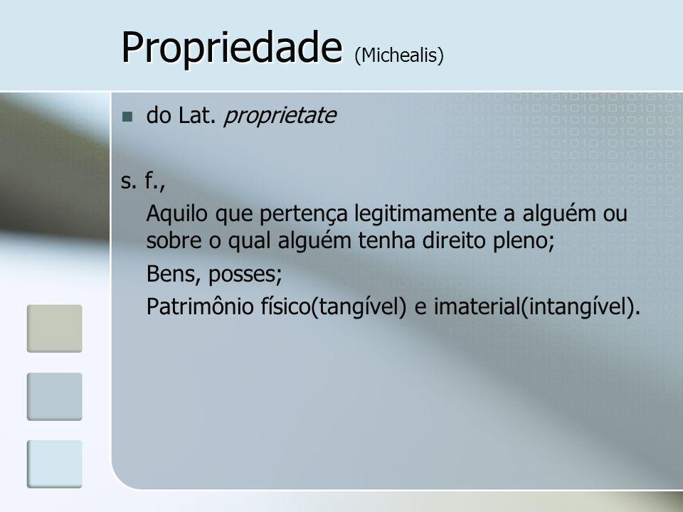 Propriedade (Michealis)