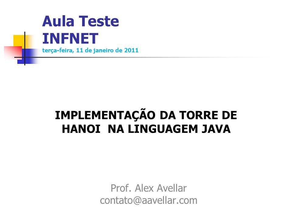 Aula Teste INFNET terça-feira, 11 de janeiro de 2011