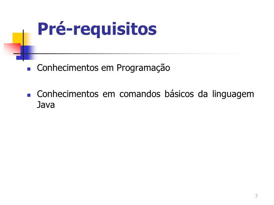 Pré-requisitos Conhecimentos em Programação