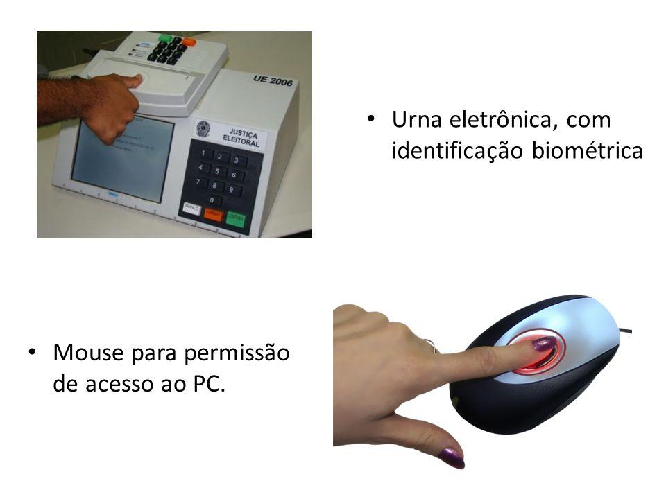 Urna eletrônica, com identificação biométrica