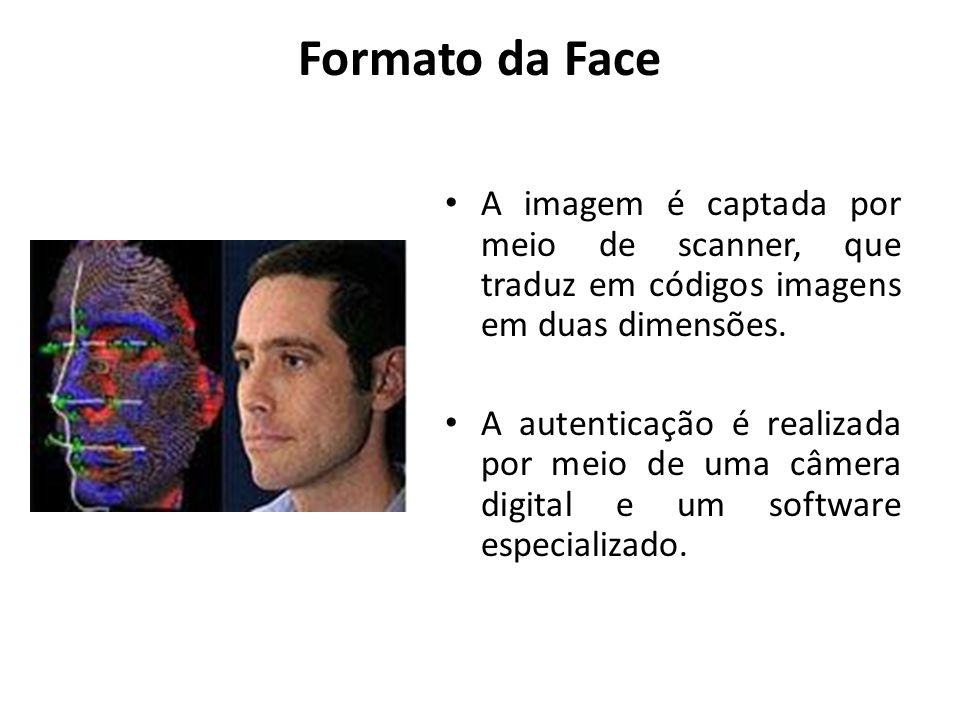 Formato da FaceA imagem é captada por meio de scanner, que traduz em códigos imagens em duas dimensões.