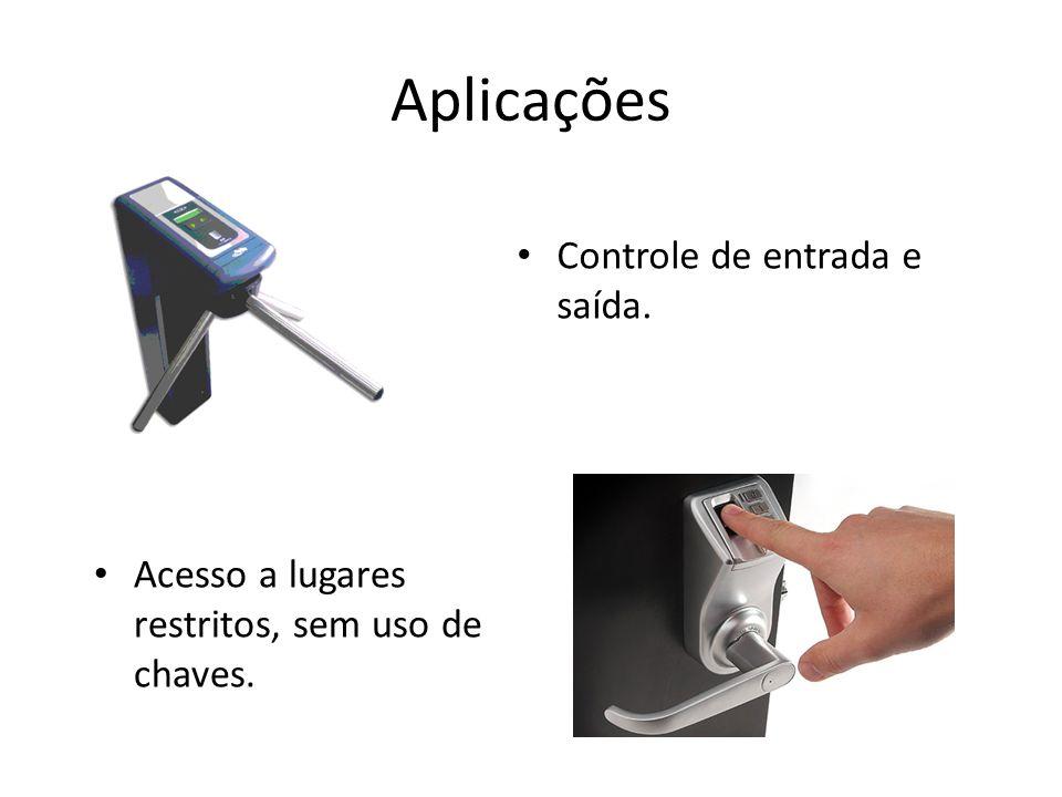 Aplicações Controle de entrada e saída.