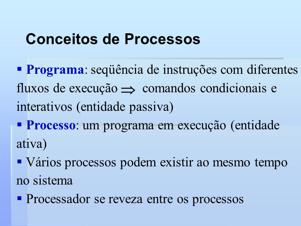Conceitos de Processos