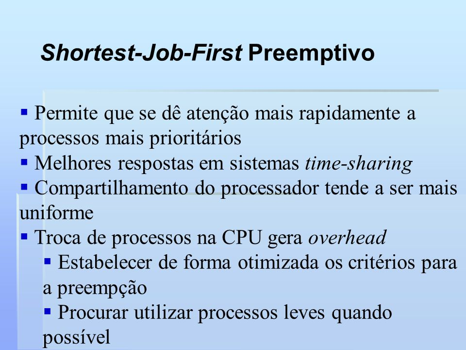 Shortest-Job-First Preemptivo
