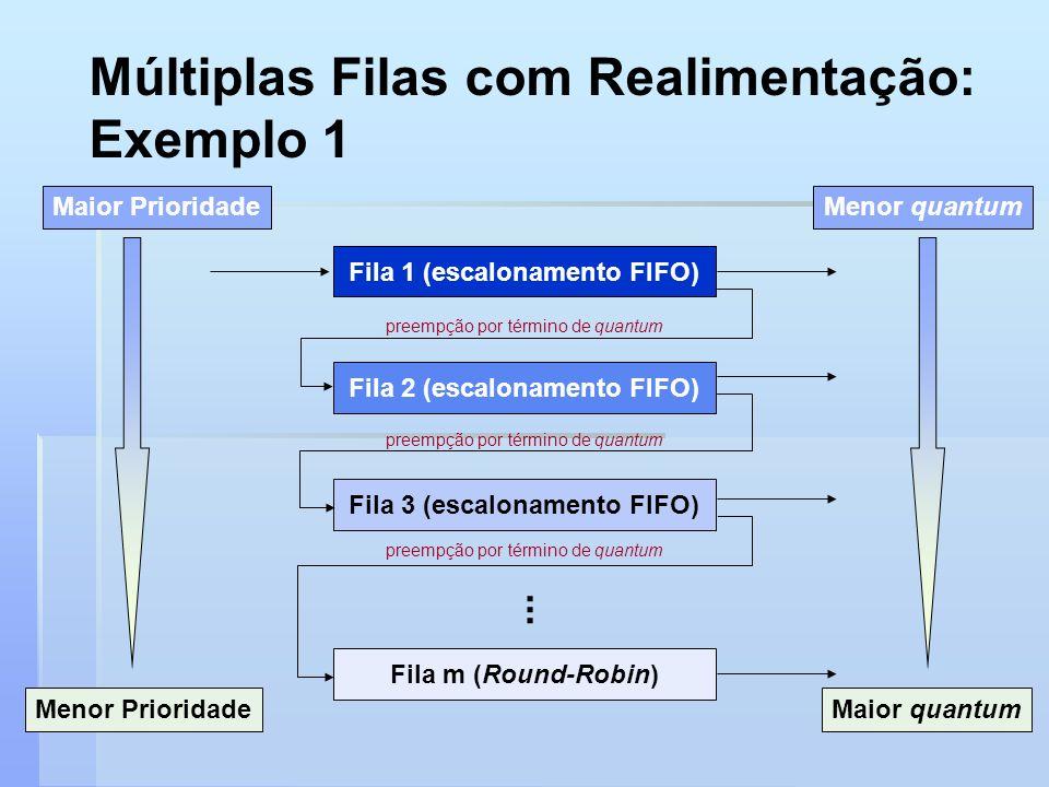 Múltiplas Filas com Realimentação: Exemplo 1