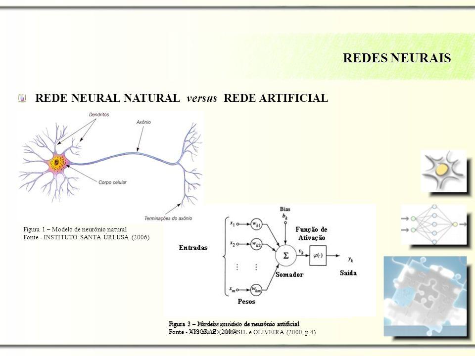 REDES NEURAIS REDE NEURAL NATURAL versus REDE ARTIFICIAL