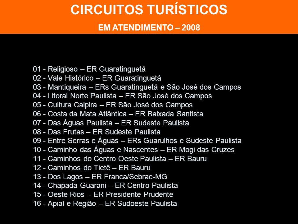 CIRCUITOS TURÍSTICOS EM ATENDIMENTO – 2008