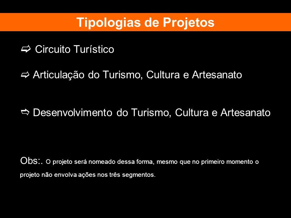 Tipologias de Projetos