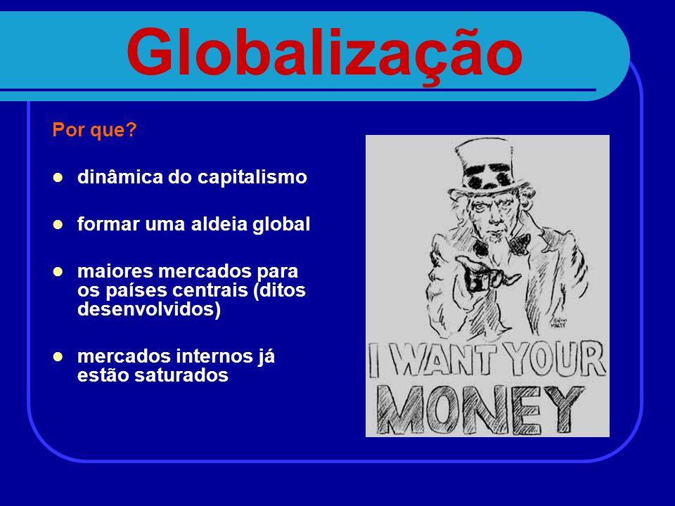 Globalização Por que dinâmica do capitalismo formar uma aldeia global