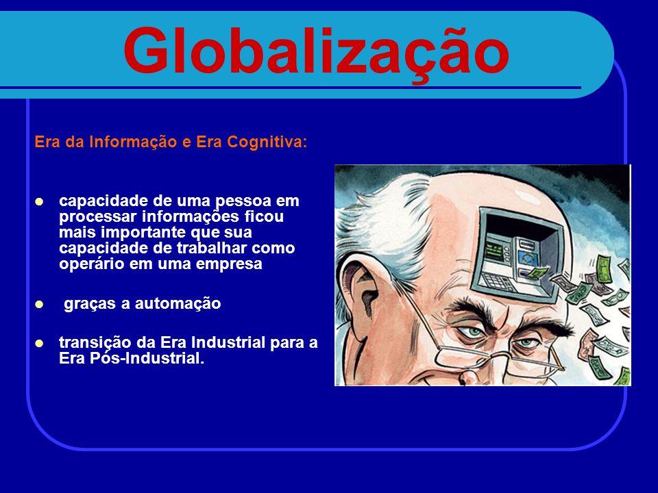 Globalização Era da Informação e Era Cognitiva: