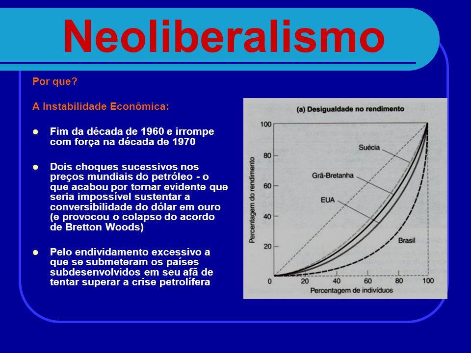Neoliberalismo Por que A Instabilidade Econômica: